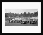 MG R type of Bill Esplen, ERA of Geg Parnell and MG of H Stuart-Wilton, Crystal Palace, 1939 by Bill Brunell