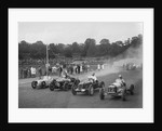 Austin 7 of WD Castello, Alta of Eric Winterbottom and MG K3 racing at Crystal Palace, London, 1939 by Bill Brunell