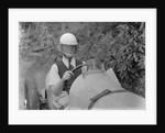 Charles Mortimer behind the wheel of a MG KN Special, c1930s by Bill Brunell