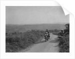 599 cc Panther motorcycle competing in the MCC Torquay Rally, 1938 by Bill Brunell