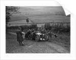 MG PB of K Scales getting a push during the MG Car Club Midland Centre Trial, 1938 by Bill Brunell