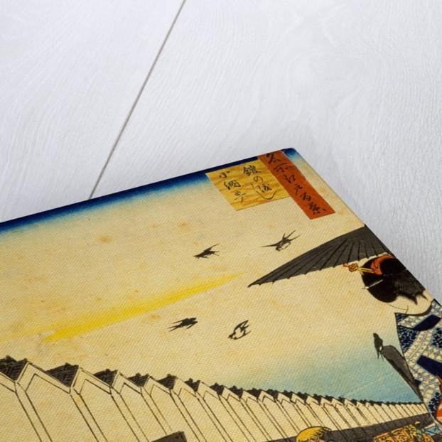 Yoroi Ferry, Koamicho by Utagawa Hiroshige