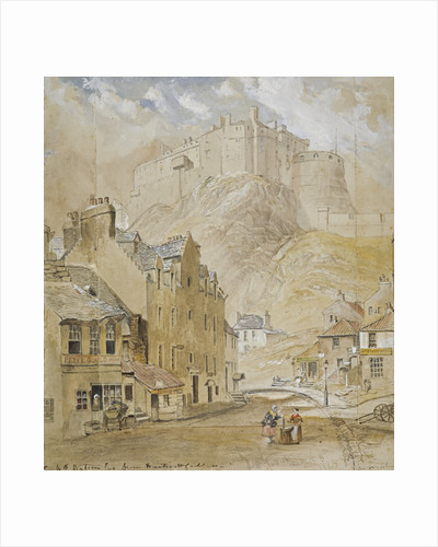 Edinburgh Castle from the Foot of the Vennel by Horatio McCulloch