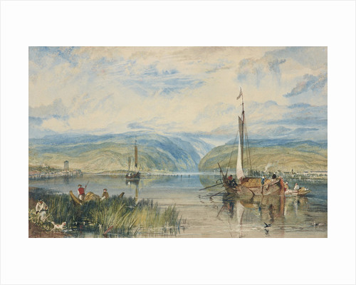 Neuwied and Weise Thurn, with Hoch's Monument on the Rhine, looking towards Andernach by Joseph Mallord William Turner