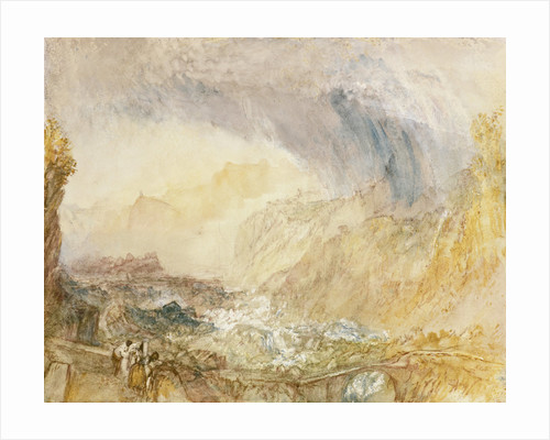The St Gothard Pass at the Devil's Bridge by Joseph Mallord William Turner