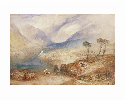 Llanberis Lake and Snowdon - Caernarvon, Wales by Joseph Mallord William Turner