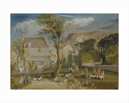 Caley Hall, Yorkshire with Stag Hunters Returning Home by Joseph Mallord William Turner
