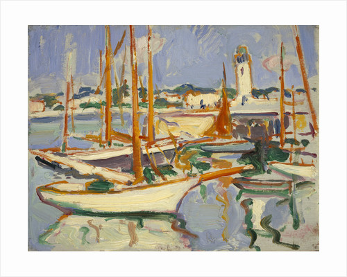 Boats at Royan by Samuel John Peploe