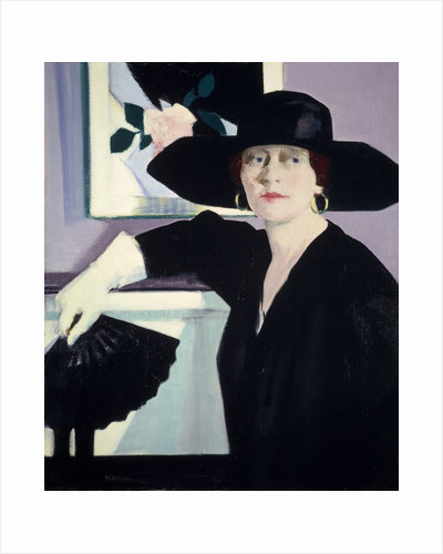 Portrait of a Lady in Black by Francis Campbell Boileau Cadell