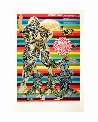 Wittgenstein the Soldier. From As is when by Eduardo Paolozzi