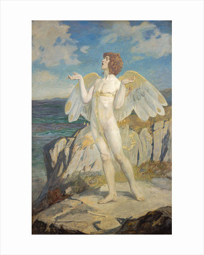 Angus Og, God of Love and Courtesy, Putting a Spell of Summer Calm on the Sea by John Duncan
