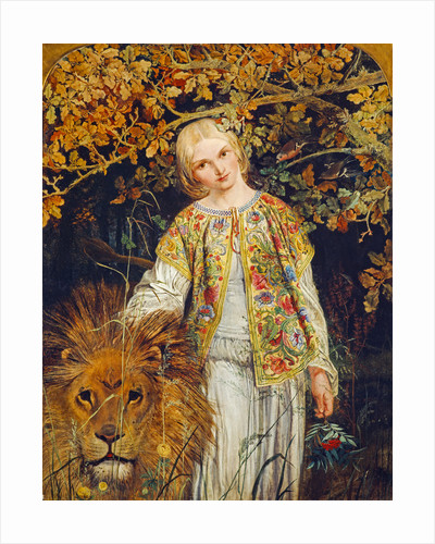 Una and the Lion (from Spenser's 'The Faerie Queene') by William Bell Scott