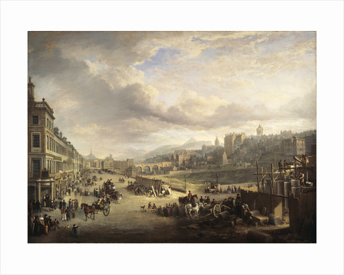 Princes Street with the Commencement of the Building of the Royal Institution by Alexander Nasmyth