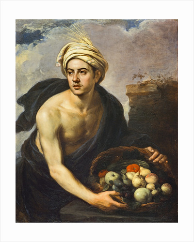 A Young Man with a Basket of Fruit (Personification of 'Summer') by Bartolome Esteban Murillo
