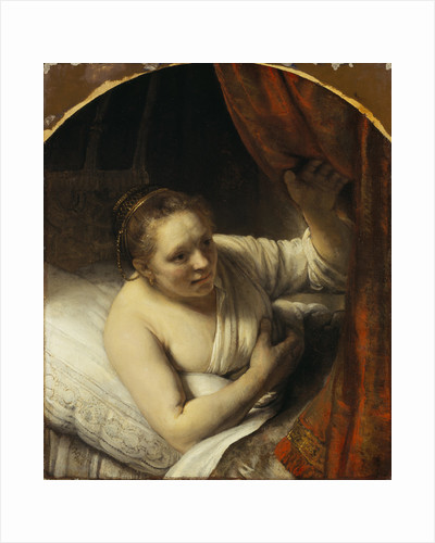 A Woman in Bed by Rembrandt (Rembrandt van Rijn)