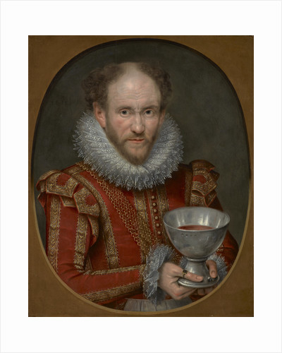 Tom Derry, fl. 1614. Jester to Anne of Denmark. (Previously called 1st Viscount Stormont) by Marcus Gheeraerts