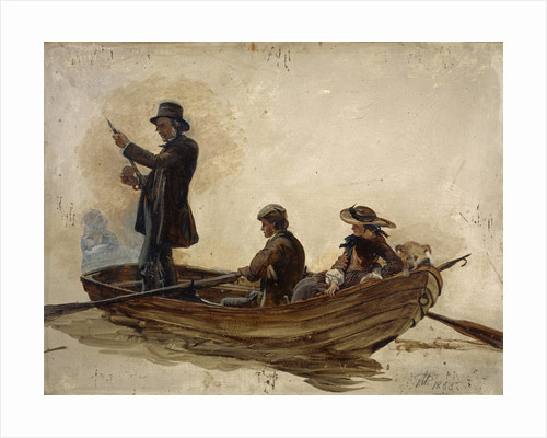 Rev. Thomas Guthrie, 1803 - 1873. Preacher and philanthropist (With his children, Patrick and Anne, fishing on Lochlee) by Sir George Harvey