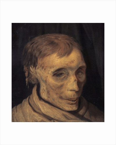 James Hepburn, 4th Earl of Bothwell, c 1535 - 1578. Third husband of Mary, Queen of Scots (Study of mummified head) by Otto Bache