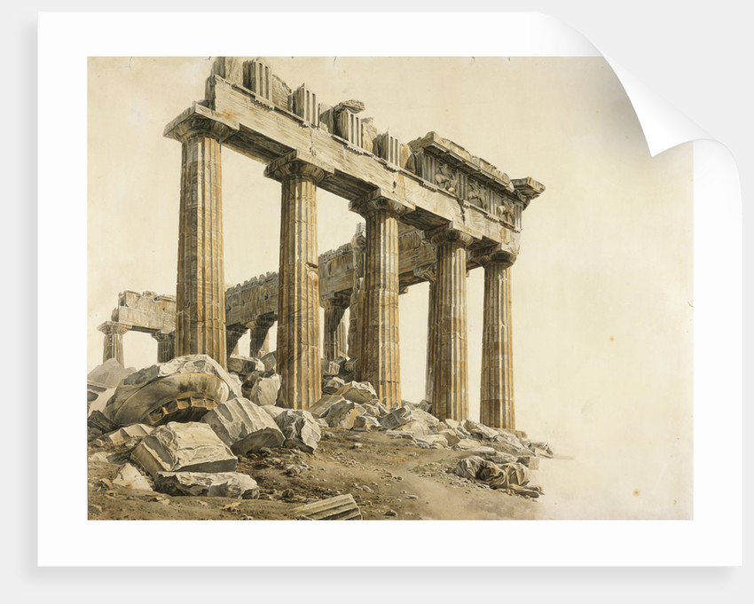 View of the East End of the Parthenon, Athens by Giovanni Battista Lusieri