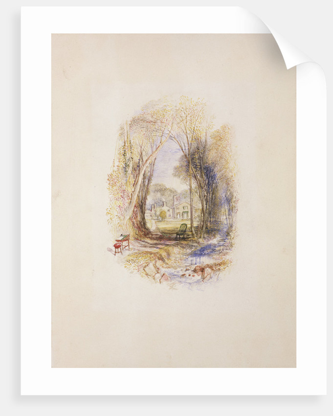 Chiefswood Cottage at Abbotsford by Joseph Mallord William Turner