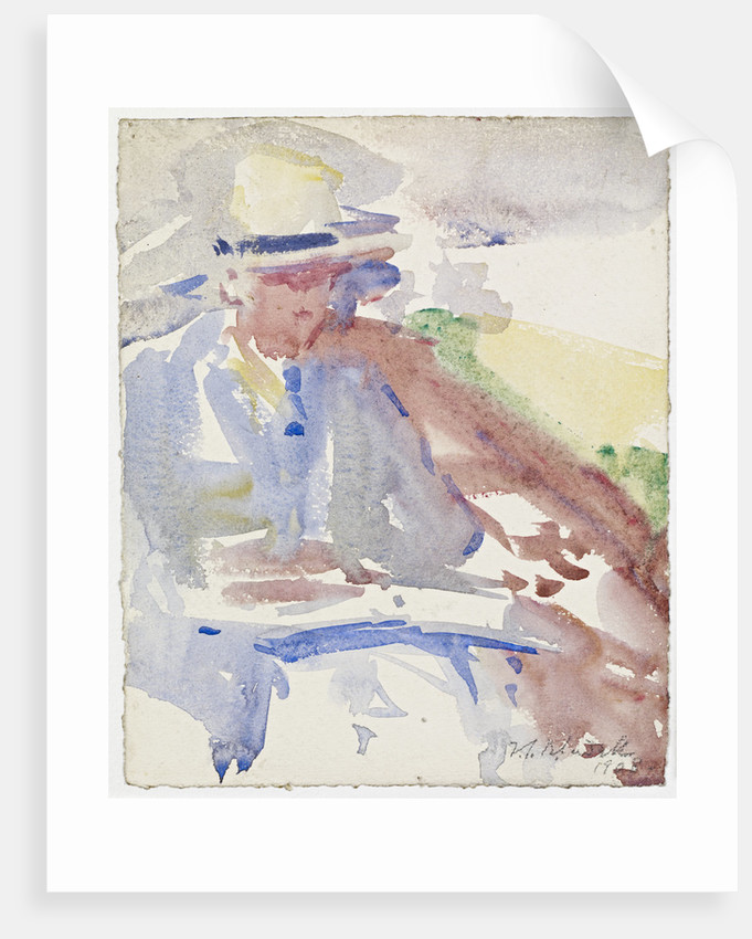 Portrait of a Man, Seated by Francis Campbell Boileau Cadell