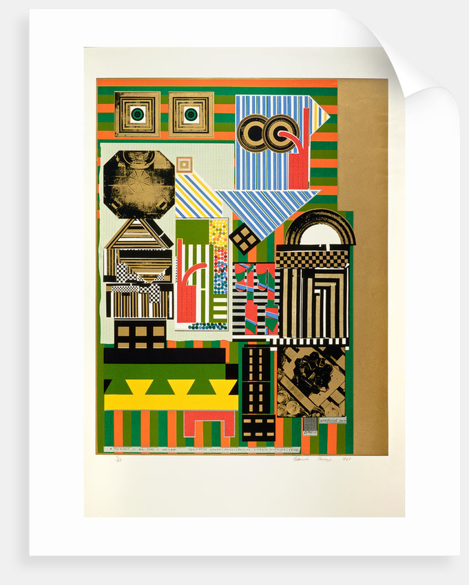 Artificial sun. From As is when by Eduardo Paolozzi