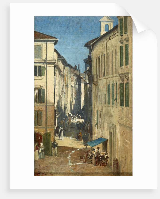 A Street in Rome by Sir William Fettes Douglas
