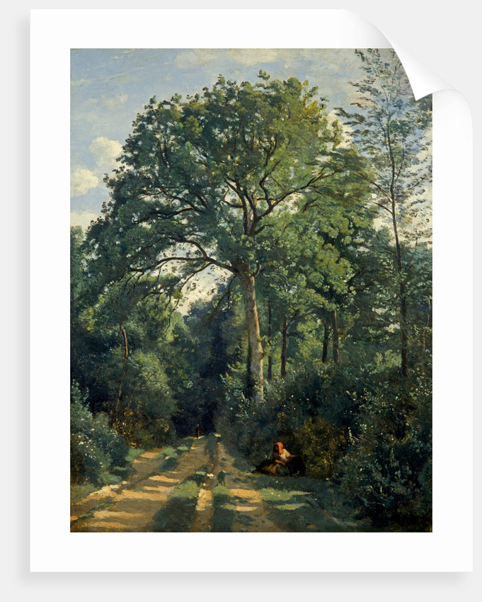 Ville-d'Avray: Entrance to the Wood by Jean-Baptiste Camille Corot