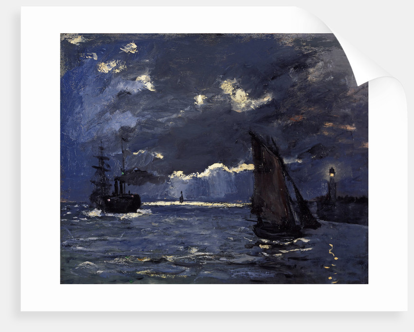 A Seascape, Shipping by Moonlight by Claude Monet