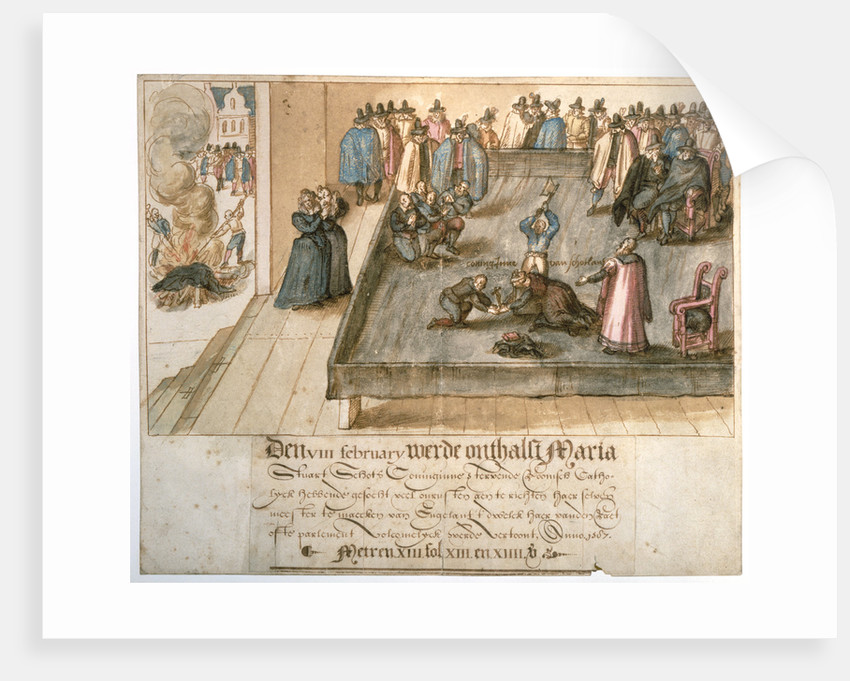 The Execution of Mary, Queen of Scots, 1542 - 1587 by unknown