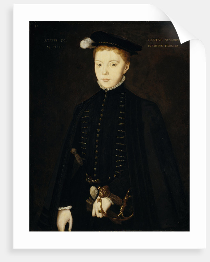 Henry Stuart, Lord Darnley, 1545 - 1567. Consort of Mary, Queen of Scots by Hans Eworth