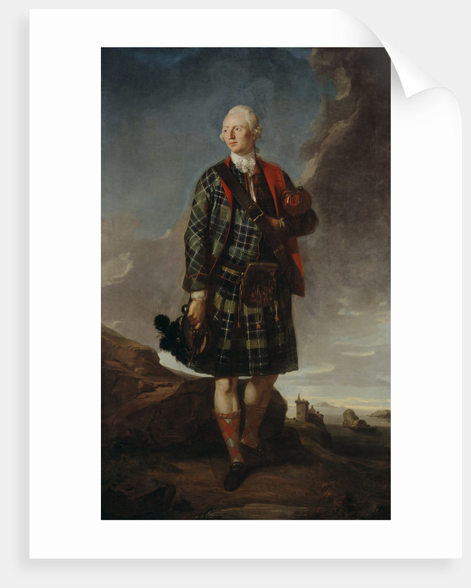 Sir Alexander Macdonald, 1744 - 1795. 9th Baronet of Sleat and 1st Baron Macdonald of Slate by Attributed to Sir George Chalmers