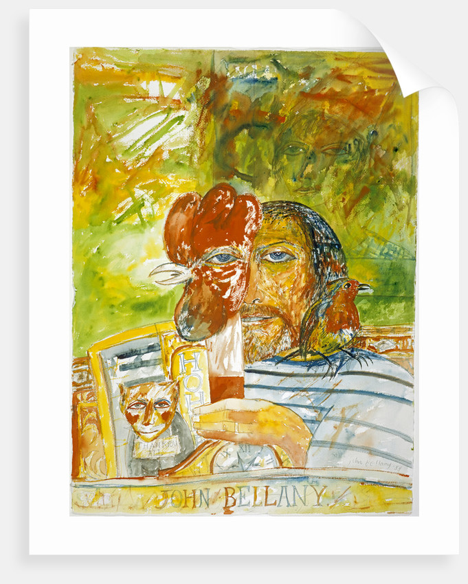 John Bellany, b. 1942. Artist (Self-portrait) by John Bellany