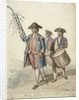 The Prize of the Silver Golf - Officer Carrying a Decorated Golf Club, Two Soldiers with Drums behind him by David Allan