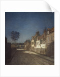 Une Rue le Soir [A Street in a Village in the Evening] by Jean-Charles Cazin