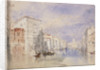 The Palazzo Balbi on the Grand Canal, Venice by Joseph Mallord William Turner