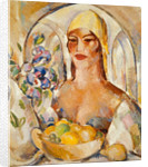 In the Patio: Margaret Morris Fergusson by John Duncan Fergusson