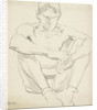 Male Nude (Seated on the Ground) by Francis Campbell Boileau Cadell