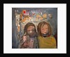 Children and Chalked Wall 3 by Joan Eardley