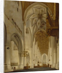 The Interior of St Bavo's Church, Haarlem (the 'Grote Kerk') by Pieter Jansz. Saenredam