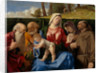 The Virgin and Child with Saints Jerome, Peter, Francis and an Unidentified Female Saint by Lorenzo Lotto
