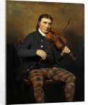 Niel Gow, 1727 - 1807. Violinist and composer by Sir Henry Raeburn
