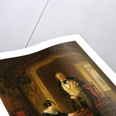 Sir Walter Scott Dictating to his Daughter, Anne, in the Armoury at Abbotsford 1844 by William Allan