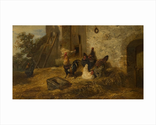 Poultry in a Midden by Charles Emile Jacques