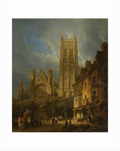 The Church of St Jacques, Dieppe, 1826 by David Roberts