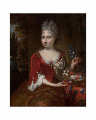 Portrait of a lady by Michiel Van Musscher