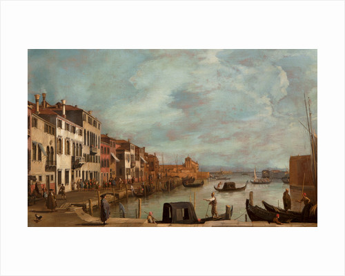 Venetian Fondamenta by Francesco Guardi