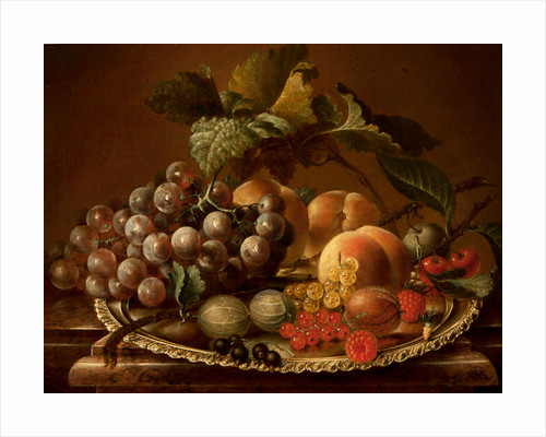 Fruit on a Salver on a Marble Ledge by D.C.G.