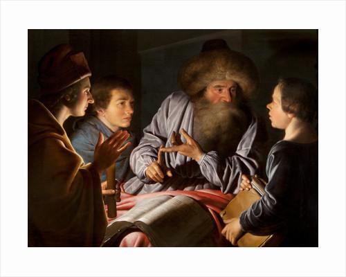 Philosopher and his pupils by Willem van der Vliet