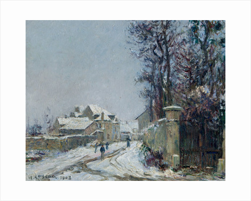 Snow at Saint Auen d'Aumone, 1908 by Gustave Loiseau
